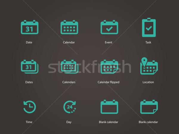 Kalender iconen vergadering grafische object planning Stockfoto © tkacchuk