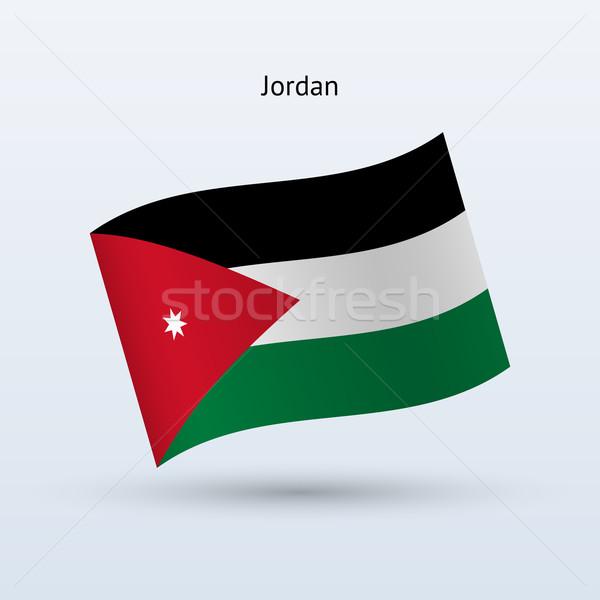 ヨルダン フラグ フォーム グレー にログイン ストックフォト © tkacchuk
