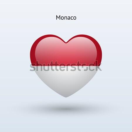 Amour Monaco symbole coeur pavillon icône Photo stock © tkacchuk