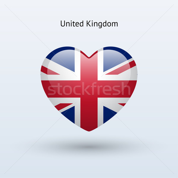 Love United Kingdom symbol. Heart flag icon. Stock photo © tkacchuk