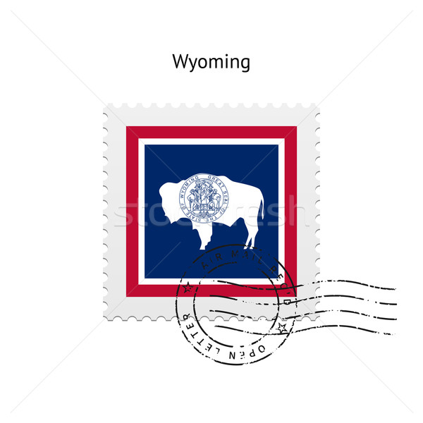 State of Wyoming flag postage stamp. Stock photo © tkacchuk