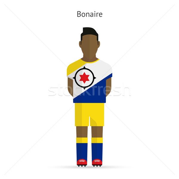 Bonaire football player. Soccer uniform. Stock photo © tkacchuk