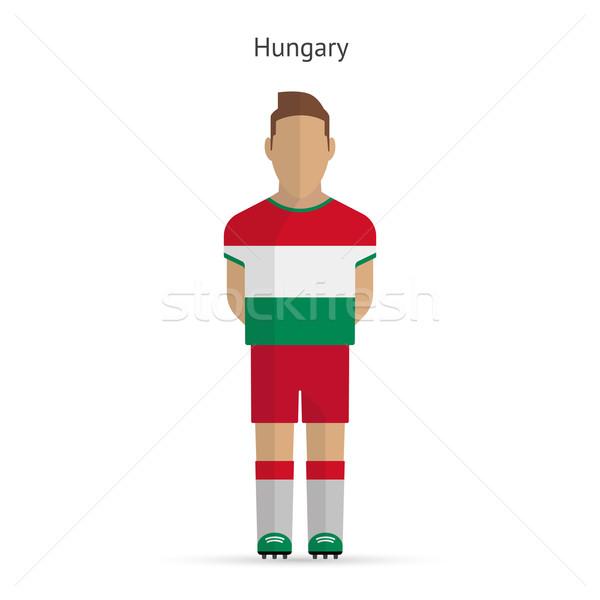 Hungary football player. Soccer uniform. Stock photo © tkacchuk
