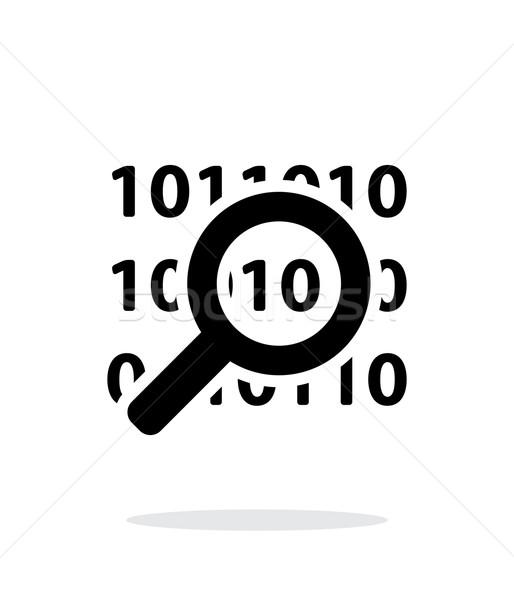 Security search icon on white background. Stock photo © tkacchuk