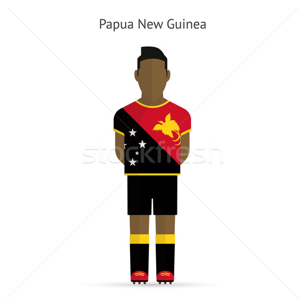 Папуа-Новая Гвинея футболист Футбол равномерный аннотация фитнес Сток-фото © tkacchuk