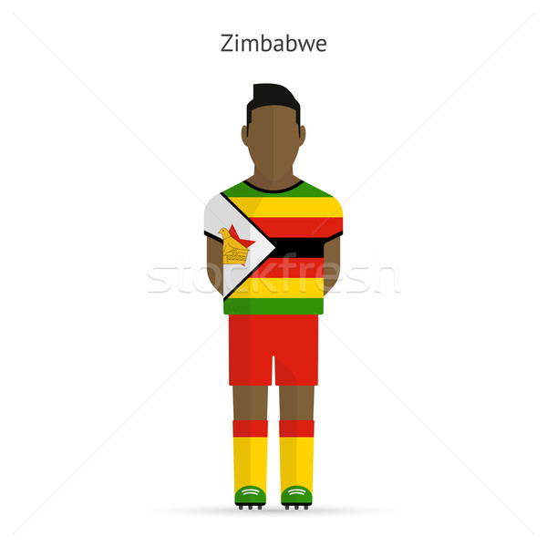 Zimbabwe football uniforme résumé fitness Photo stock © tkacchuk
