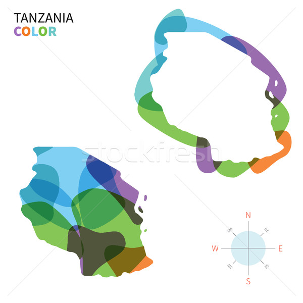Foto stock: Resumen · vector · color · mapa · Tanzania · transparente