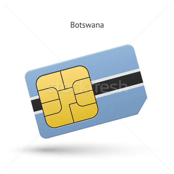 Botswana téléphone portable carte pavillon affaires design Photo stock © tkacchuk
