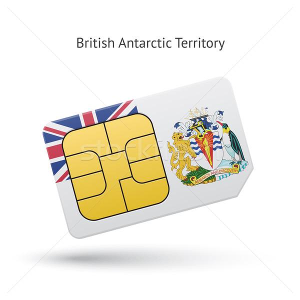 Brit terület telefon kártya zászló mobiltelefon Stock fotó © tkacchuk
