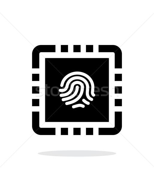 Processzor biztonságos egyszerű ikon fehér terv Stock fotó © tkacchuk