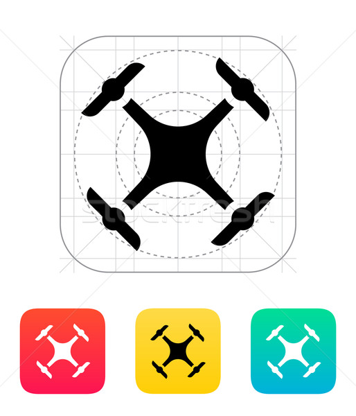 Quadcopter drone icon. Stock photo © tkacchuk