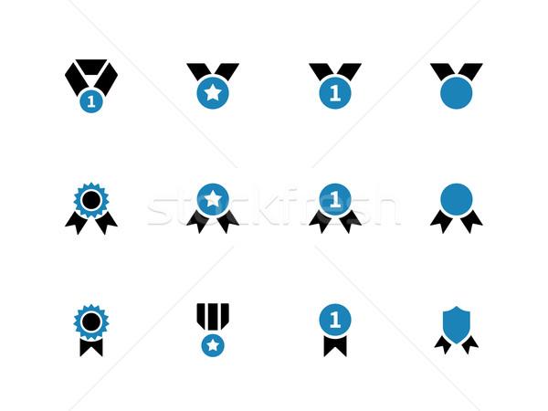 Medal and awards duotone icons on white background. Stock photo © tkacchuk
