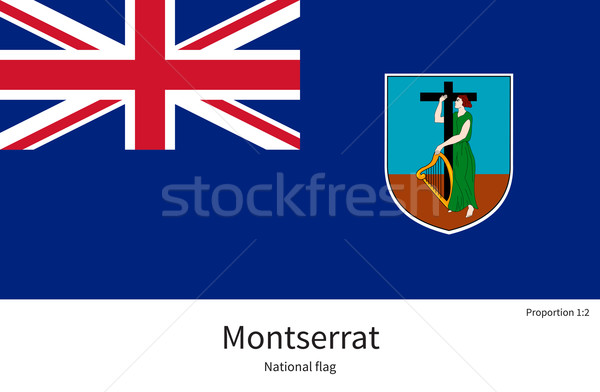 National flag of Montserrat with correct proportions, element, colors Stock photo © tkacchuk
