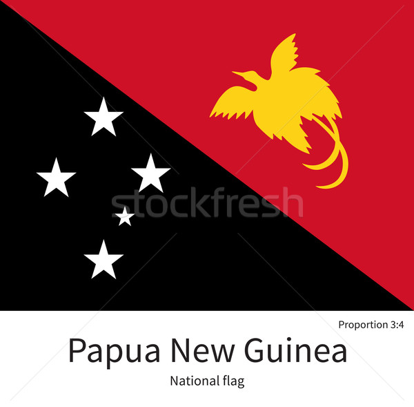 National flag of Papua New Guinea with correct proportions, element, colors Stock photo © tkacchuk