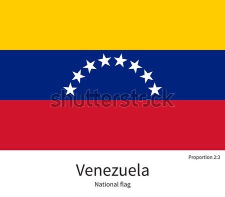 Banderą Wenezuela skorygowania kolory edukacji Zdjęcia stock © tkacchuk