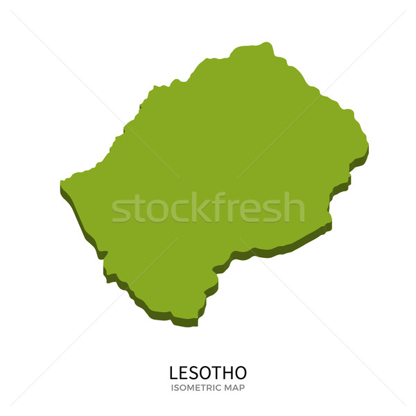 Isometric map of Lesotho detailed vector illustration Stock photo © tkacchuk