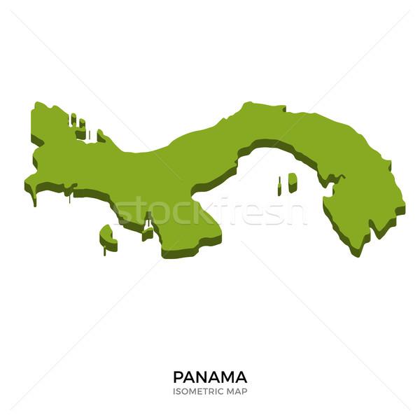 Izometrikus térkép Panama részletes izolált 3D Stock fotó © tkacchuk