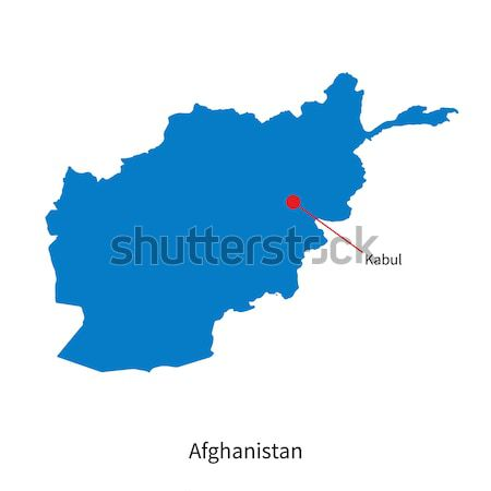 Detalhado vetor mapa Afeganistão cidade educação Foto stock © tkacchuk