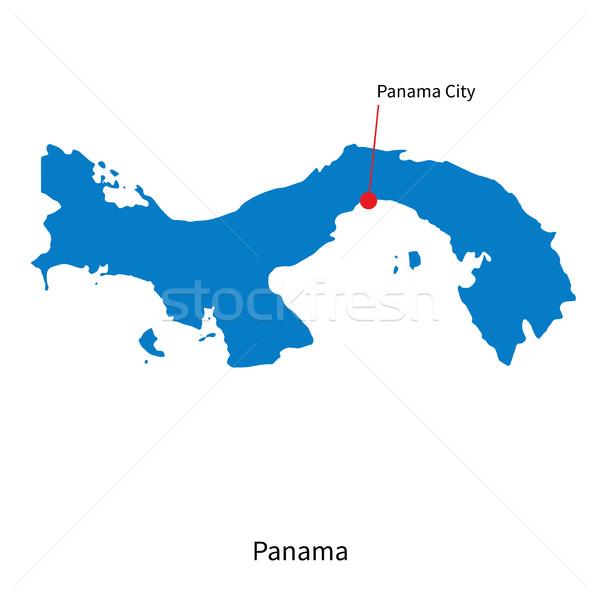 Ayrıntılı vektör harita Panama şehir toprak Stok fotoğraf © tkacchuk