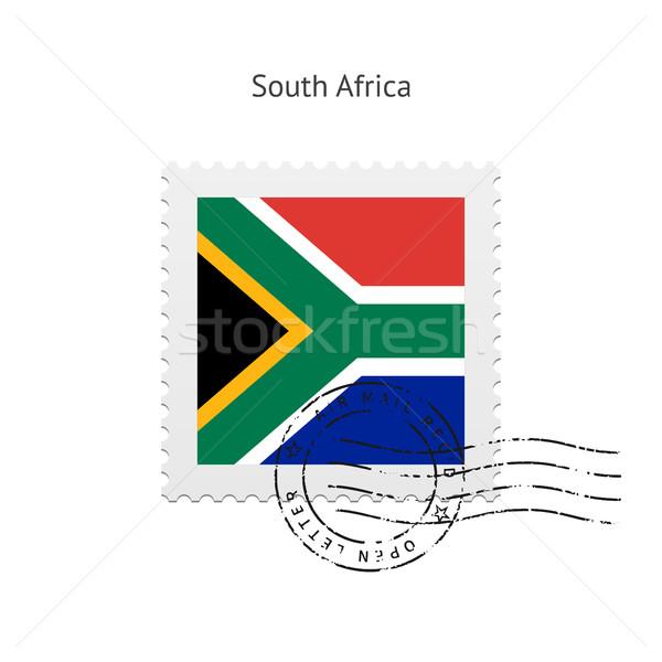 África do Sul bandeira branco assinar carta Foto stock © tkacchuk
