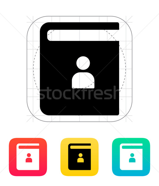 Contact book icon. Stock photo © tkacchuk