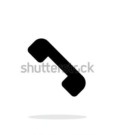 Befejezés hívás telefonkagyló ikon fehér telefon Stock fotó © tkacchuk
