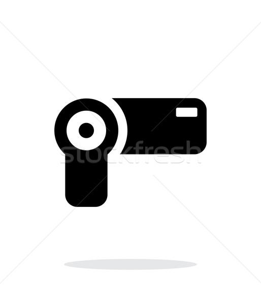 Hand-held camera simple icon on white background. Stock photo © tkacchuk