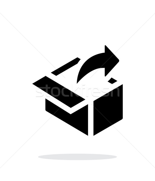Share from box simple icon on white background. Stock photo © tkacchuk