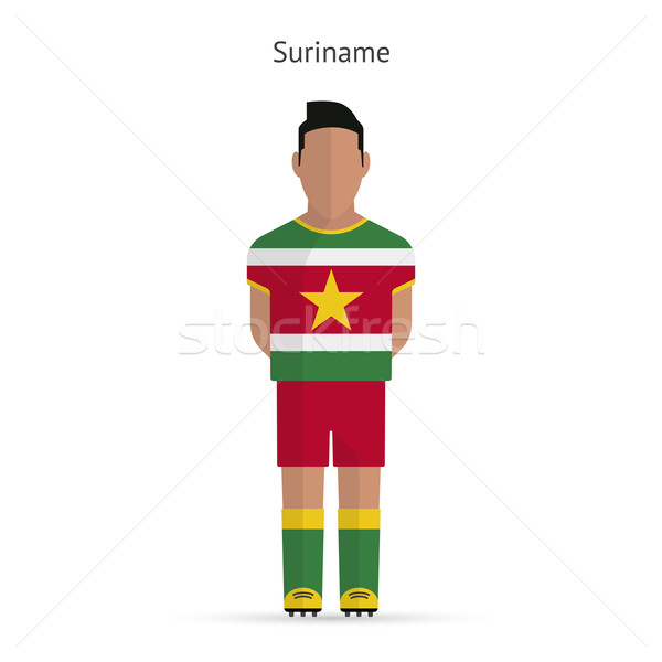 Суринам футболист Футбол равномерный аннотация фитнес Сток-фото © tkacchuk