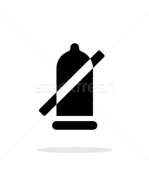 Condom ban icon on white background. Stock photo © tkacchuk