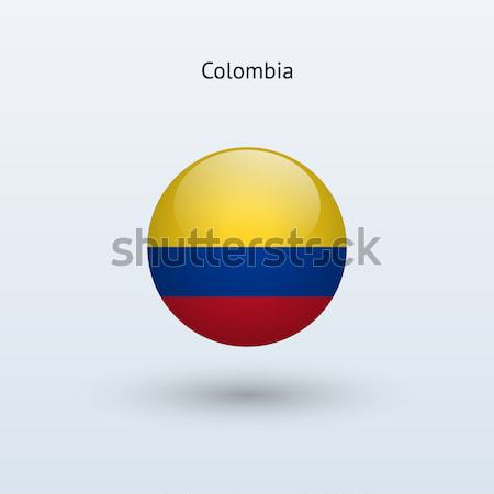 Colombia vlag grijs teken web reizen Stockfoto © tkacchuk