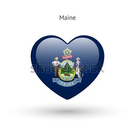 Amor Connecticut símbolo coração bandeira ícone Foto stock © tkacchuk
