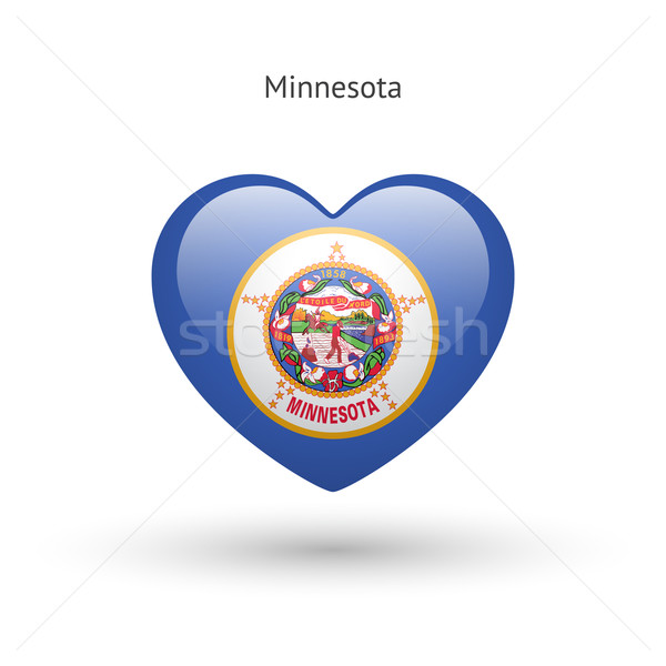 Love Minnesota state symbol. Heart flag icon. Stock photo © tkacchuk