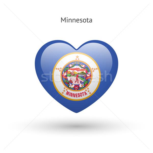 Sevmek Minnesota simge kalp bayrak ikon Stok fotoğraf © tkacchuk
