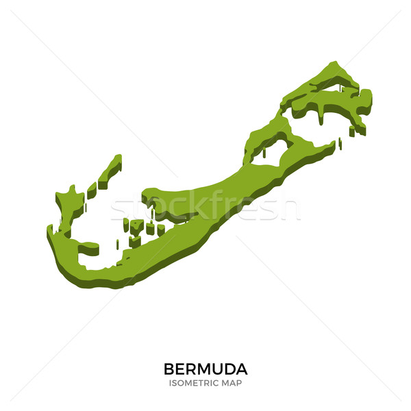 Isometric map of Bermuda detailed vector illustration Stock photo © tkacchuk