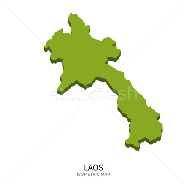 Isométrique carte Laos détaillée isolé 3D Photo stock © tkacchuk