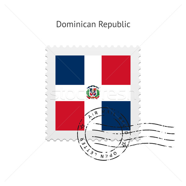 Dominican Republic Flag Postage Stamp. Stock photo © tkacchuk