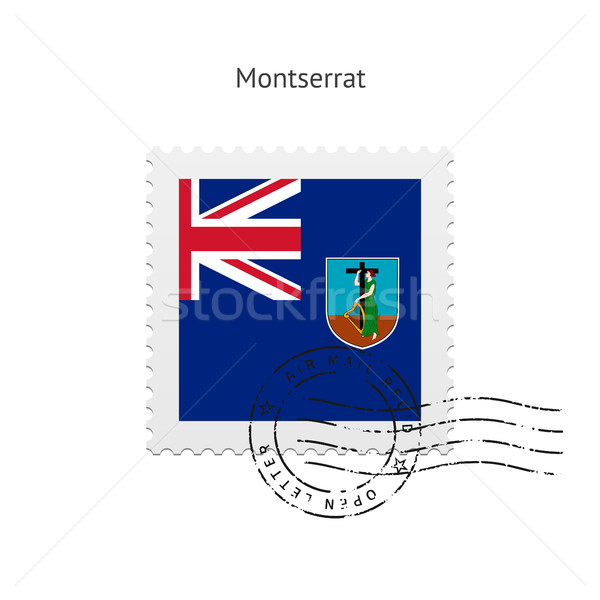 Montserrat Flag Postage Stamp. Stock photo © tkacchuk