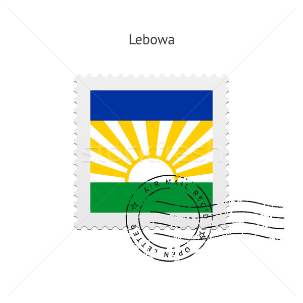 Lebowa Flag Postage Stamp. Stock photo © tkacchuk