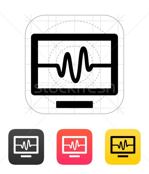 TV signal icon. Vector illustration. Stock photo © tkacchuk