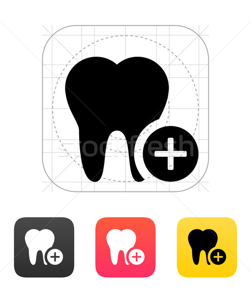 Stock photo: Add tooth icon.
