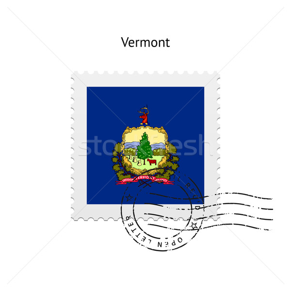 Vermont bandeira branco assinar carta Foto stock © tkacchuk