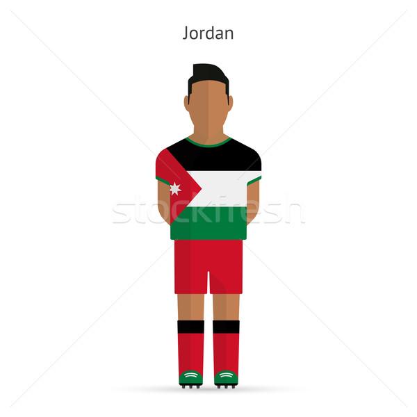 Jordânia futebol uniforme abstrato fitness Foto stock © tkacchuk