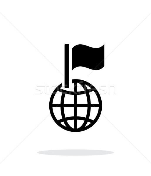 Flag icon on white background. Stock photo © tkacchuk