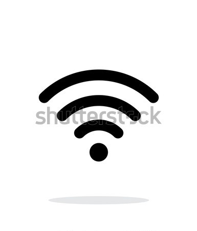 Wireless network icon on white background. Stock photo © tkacchuk