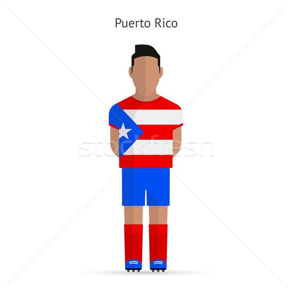Puerto Rico voetballer voetbal uniform abstract fitness Stockfoto © tkacchuk
