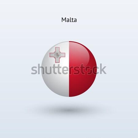 Malta bandera gris signo web viaje Foto stock © tkacchuk