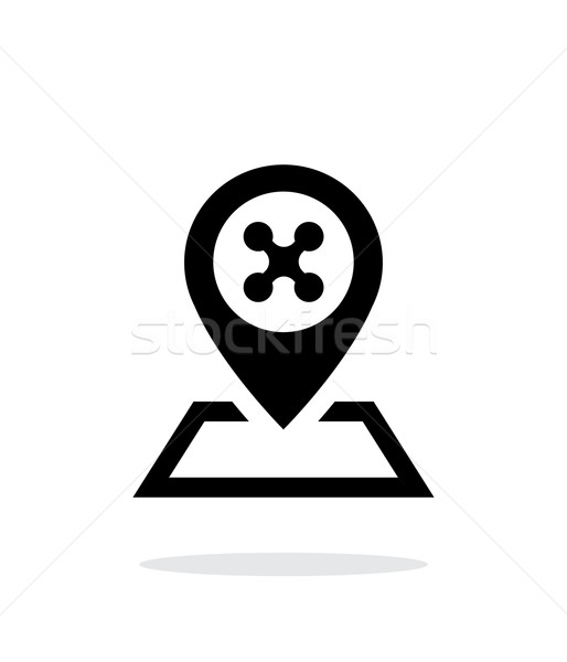 Landing place for drone simple icon on white background. Stock photo © tkacchuk