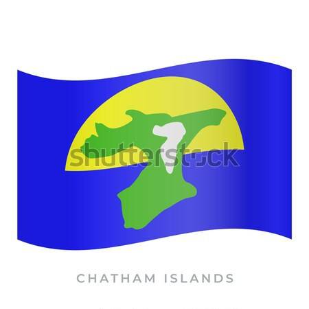 National flag of Chatham Islands with correct proportions, element, colors Stock photo © tkacchuk