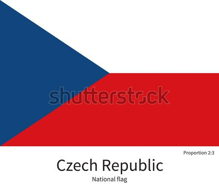 National flag of Czech Republic with correct proportions, element, colors Stock photo © tkacchuk